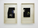 Lefteris Tapas, Moon I & II, 2013, Assemblage with ink, acrylics and graphite on cut paper, 83x53x7cm