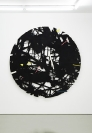 Lefteris Tapas, Garden, Tar, ink and acrylics on paper, d160cm
