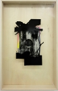 Lefteris Tapas, Diorama I, 2013, Assemblage with ink, acrylics and graphite on cut paper, 83x53x7cm