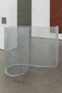 Manolis D. Lemos, Feelings (Curve 2), 2019, galvanized steel, 178x80x128cm