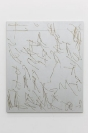 Manolis D. Lemos, Stray Horizons, Future Landscapes (Mount Parnassus Side), 2019, oil, wax and acrylic on linen, aluminum stretchers, 129x110cm