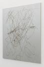 Manolis D. Lemos, Stray Horizons, Future Landscapes (Two Spirits), 2019, oil, wax and acrylic on linen, aluminum stretchers, 209x178cm