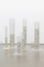 Manolis D. Lemos, Feelings (Columns), 2019, galvanized steel, marble, modular piece, dimensions variable