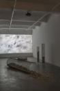 Manolis D. Lemos, Feelings, 2019, HD Video, 8min 30sec, loop, ed.3 and Feelings (Columns), 2019, galvanized steel, marble, modular piece, dimensions variable