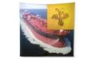 Crude Carrier Creak, 2015, Inkjet Print on Twill Silk, 208x208cm, ed.3