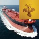 Crude Carrier Creak, 2015, Digital print on flag textile, 208x208cm
