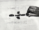 Maria Kriara, Untitled, 2014, graphite on paper, 60x120cm, detail
