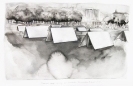 Marianna Ignataki, Summer camp strictly for anarchists (Documenta Kassel 2012) 2014, 36x57cm watercolor, pencil, colored pencil on paper