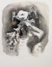 Marianna Ignataki, Ornamented Head II, 2016, watercolor and pencil on paper, 49x38cm