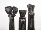 Marianna Ignataki, Totem, 2017, synthetic hair, fabric, thread, metal base detail 01