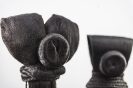 Marianna Ignataki, Totem, 2017, synthetic hair, fabric, thread, metal base detail 04