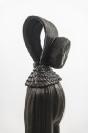 Marianna Ignataki, Xiǎo Dòng 洞 小 The Little Hole (The Cave), 2017, wig, synthetic hair, fabric, thread, metal base, 129x16x12cm detail 04 side