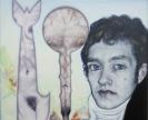 Emmanouil Bitsakis, Robert Fulton, 2014, Acrylics  on cardboard, 12,5x9,5cm, detail