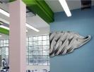Pavlos Tsakonas / Untitled, 2009, Acrylics on canvas mounted on plywood, 210x140cm, Installation View