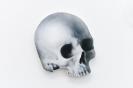 Pavlos Tsakonas / Skull, 2011, Acrylics on plywood, 20×17,5cm