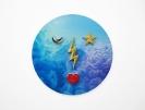 Pavlos Tsakonas, Sky Goddess, 2017 Painting, acrylics on plywood, 72x72cm