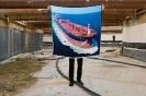 SERAPIS, Scarf1. Tanker, Print on 100% Twill silk, 50x50cm, 90x90cm, 130x130cm, limited edition of 200