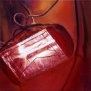Sotiris Panousakis, Red Light, 2016, oil on canvas, 50x50cm