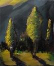 Stelios Karamanolis, Nightshot II, 2014, oil on canvas, 40x50cm