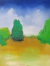 Stelios Karamanolis, Landscape IV, 2014, oil on canvas, 40x50cm