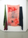 Augusta Atla, I AM COLOR, 2015, Silkscreen print, acrylic, ink on silk fabric, 170x135cm
