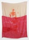 Augusta Atla, I AM LIFE, 2015, Silkscreen print, acrylic, ink on silk fabric, 100x120cm
