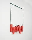 Tula Plumi, Untitled, Lines and circles series, 2012, spray paint on metal sheet, 60x37x10cm SIDE