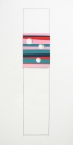 Tula Plumi, Untitled, Lines and circles series, 2012, spray paint on metal sheet, 174x46cm