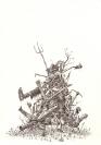 Panagiotis Loukas, dead painters I, 2012, pencil on paper, 30 x 21 cm, dead painters III, 2012, pencil on paper, 30 x 21 cm