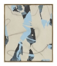 Yorgos Stamkopoulos, Untitled, 2014, Acrylic airbrush and Spray on Unprimed Canvas and Artist Frame, 31x27cm